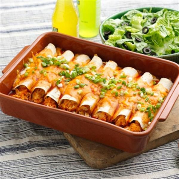 Receita de Enchiladas de Frango Cremoso Fácil