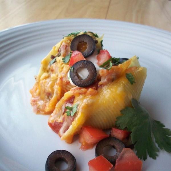 Tacos em Pasta Shells Receita