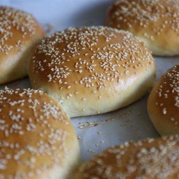 Receita caseira de pães de hambúrguer