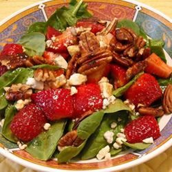 Receita de Salada de Queijo Azul Morango