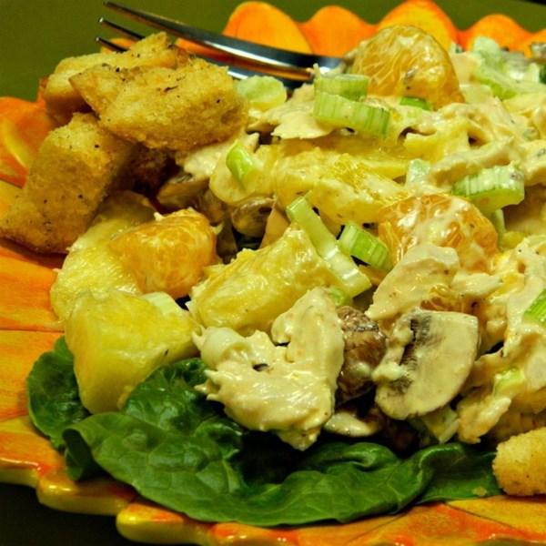 Receita de Salada de Frango de Abacaxi