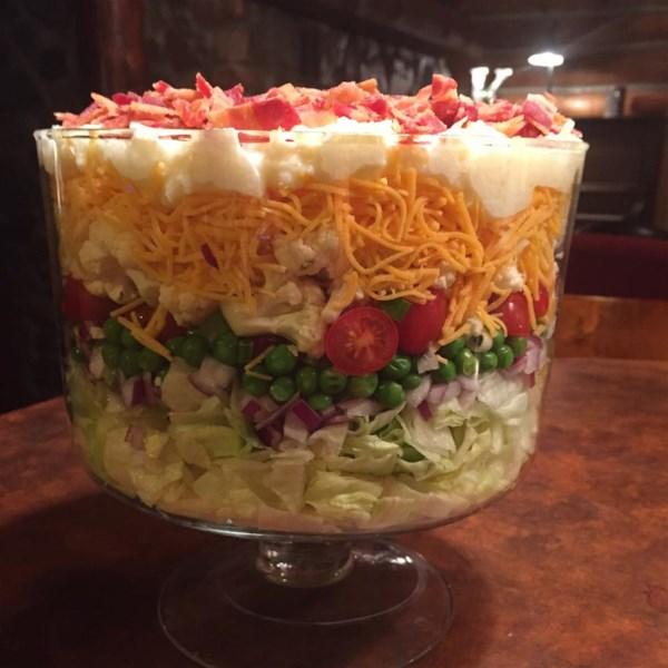 Receita de Salada de Sete Camadas