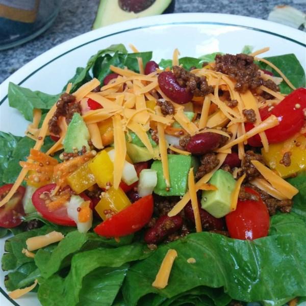Salada de Taco com Receita de Molho de Vinagre de Limão