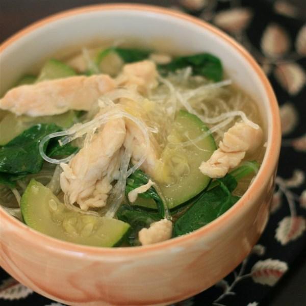 Receita de Sopa de Espinafre de Alho