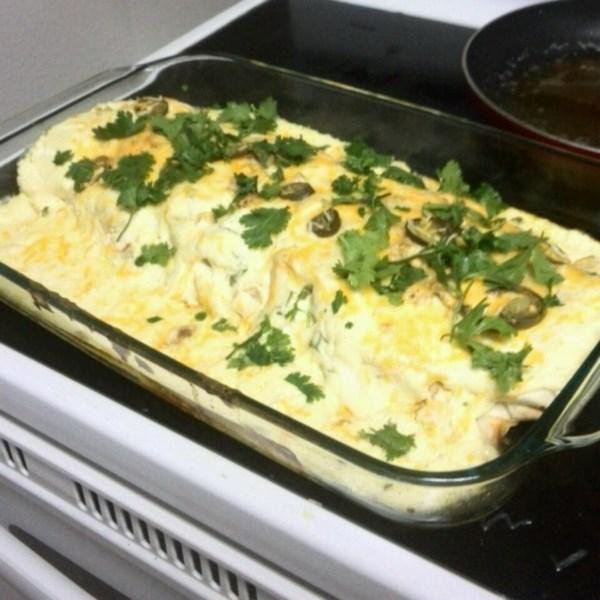 Receita de Enchiladas de frango com creme de leite de baixa gordura