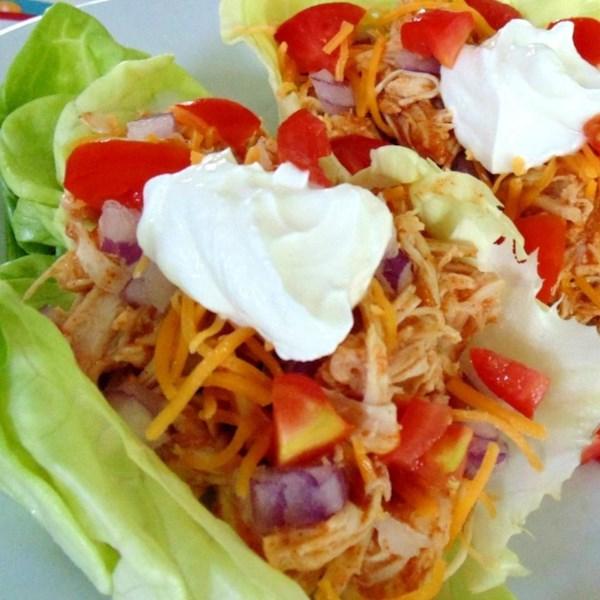 Fiesta Slow Cooker Desfiada Receita de Tacos de Frango