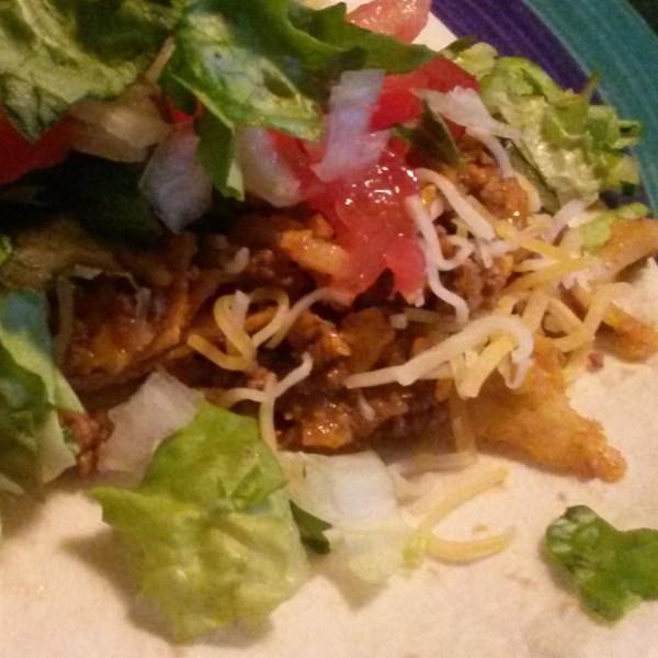 Receita de Tacos de Chip de Milho Crocante