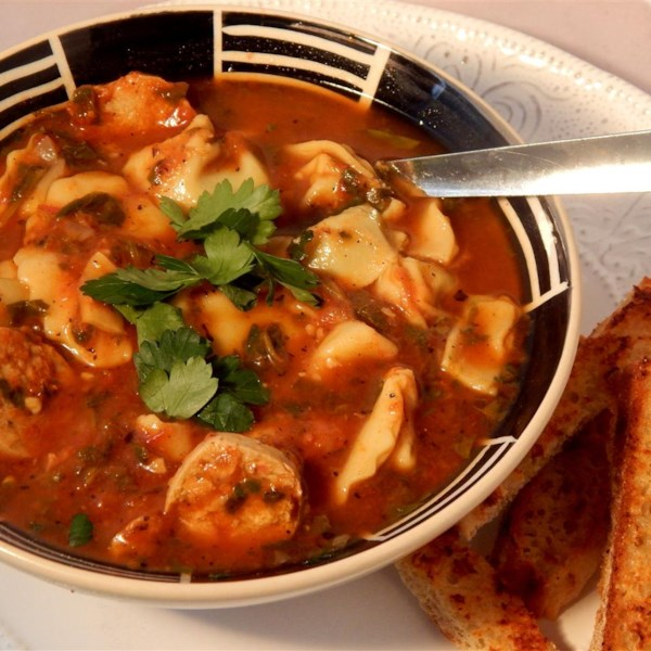 Receita autêntica de Sopa de Tortellini