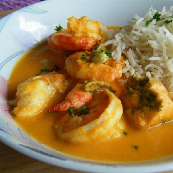 Receita de Curry de Camarão Indiano