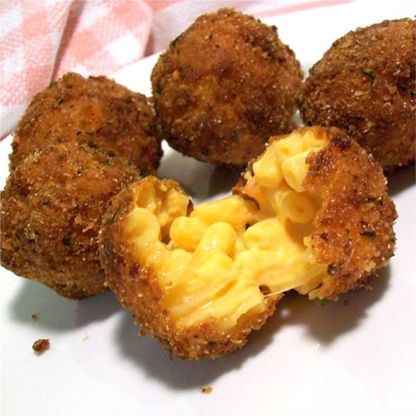 Receita de Mac frito e bolas de queijo