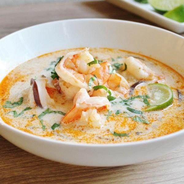 A melhor receita de sopa de coco tailandesa
