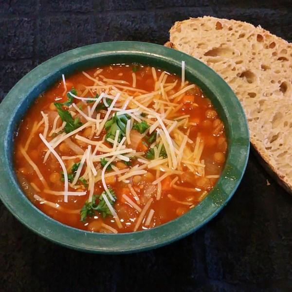 Receita de Sopa de Lentilha Húngara