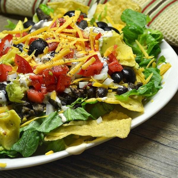 Receita fácil de salada de taco de feijão preto