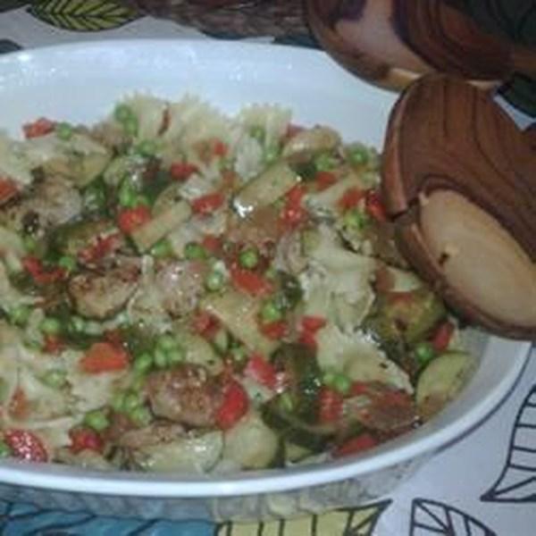 Receita de Salsicha, Abobrinha e Massa de Pimenta
