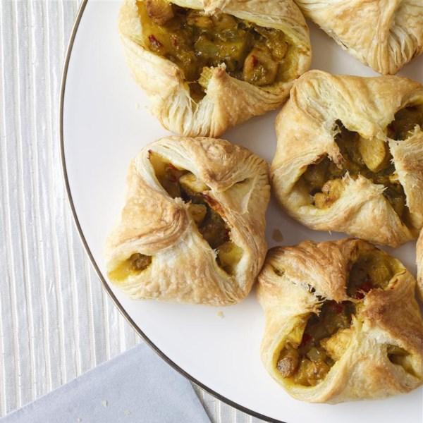 Receita de Puffs de Curry de Frango