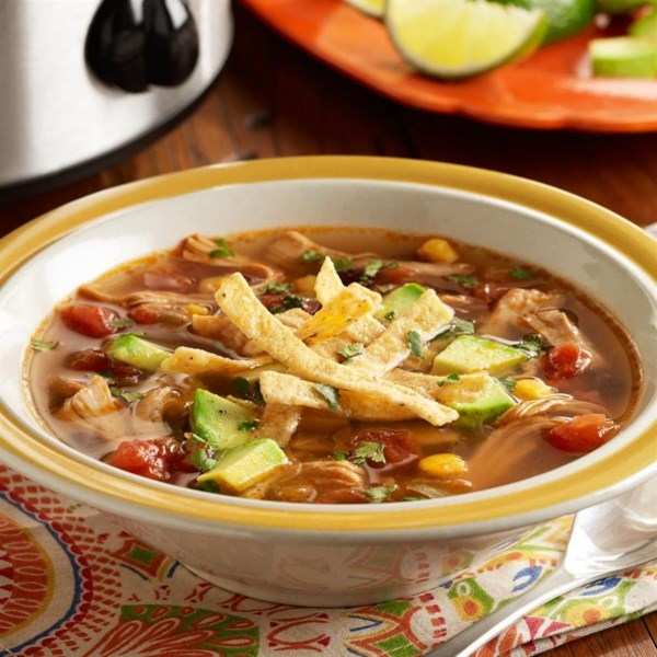 PAM's Spicy Slow Cooker Chicken Tortilla Soup Recipe