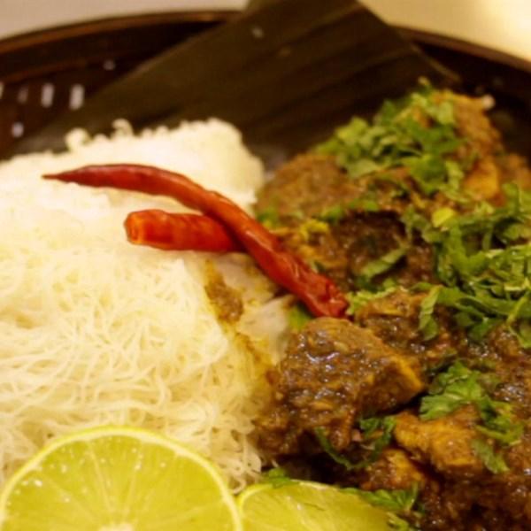 Receita de Curry de Frango de Menta de Azalina