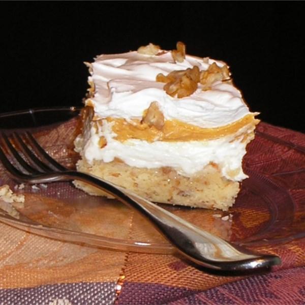 Cheesecake de abóbora com receita de crosta de nozes