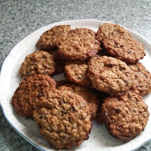 Receita de Chip de Chocolate Vegano, Farinha de Aveia e Biscoitos de Nozes