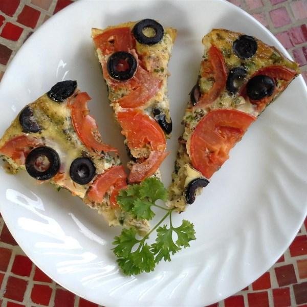 Receita de Pizza Vegetal Frittata