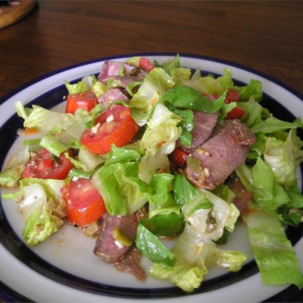 Receita de Salada de Bife