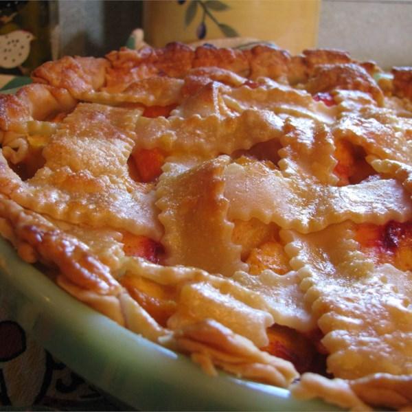 Torta de Pêssego a receita de duas crostas à moda antiga