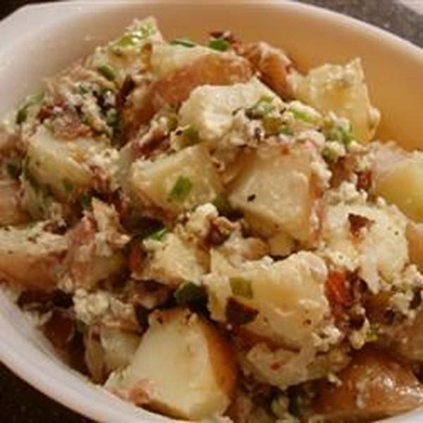 Receita de Salada de Batata de Queijo Azul