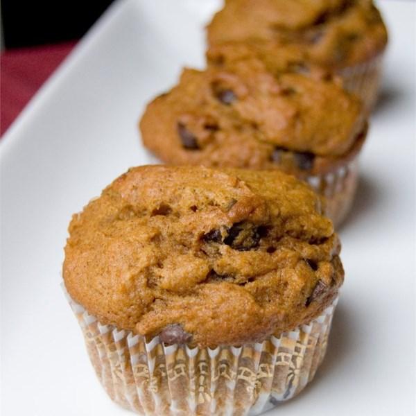 Receita de Muffins de Chocolate de Abóbora