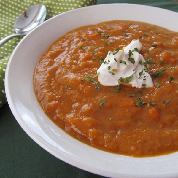 Receita de Batata Doce e Sopa de Cenoura