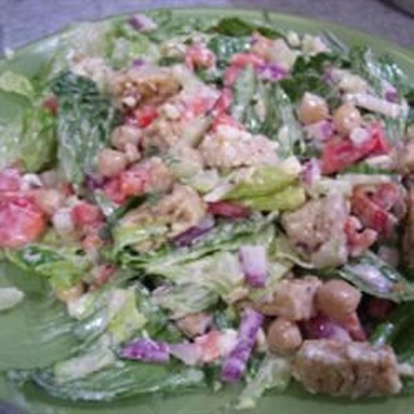 Receita de Salada de Tempeh e Queijo Azul