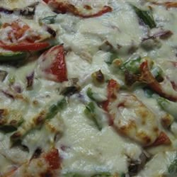 Receita de Pizza de Frango de Alho