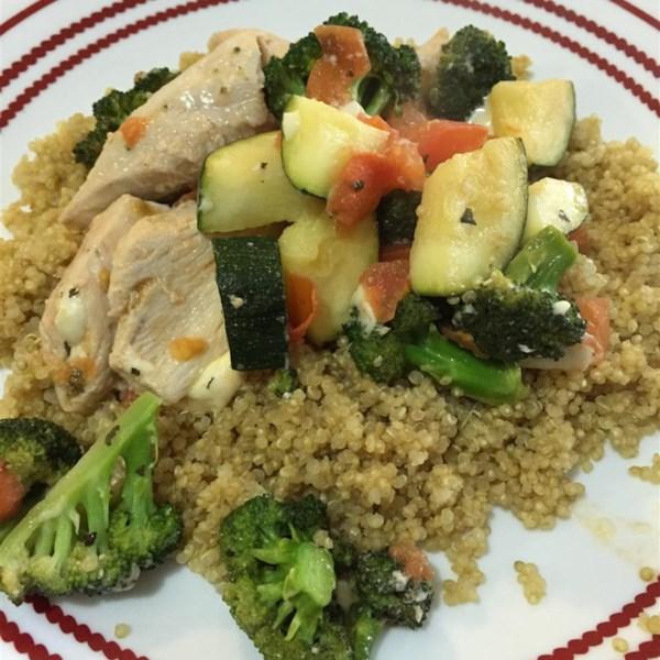 Receita de Frango com Quinoa e Legumes