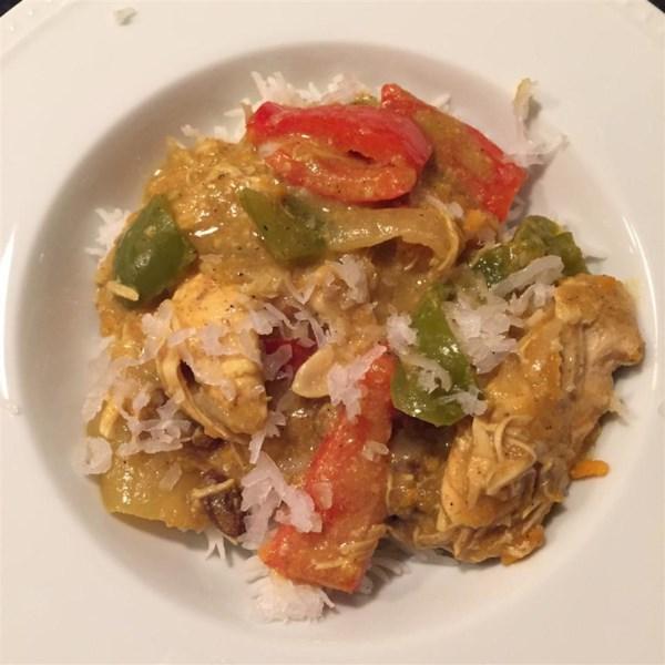 Receita de Frango com Curry de Panela Lenta