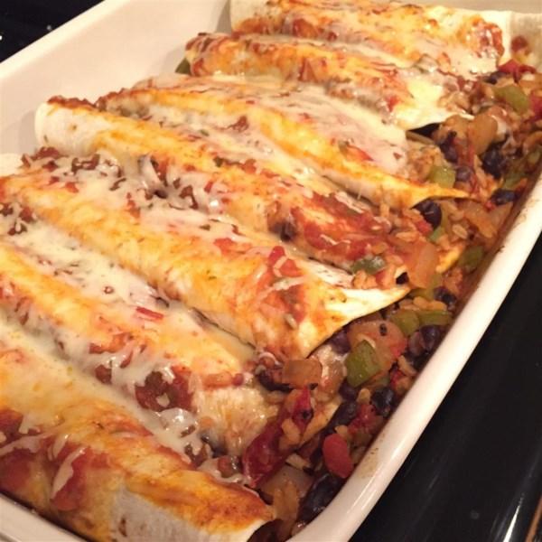 Receita de Enchiladas de Feijão Preto e Arroz