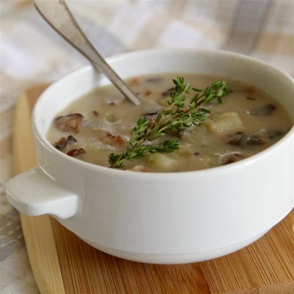 Receita de Sopa de Creme Magro de Cogumelo