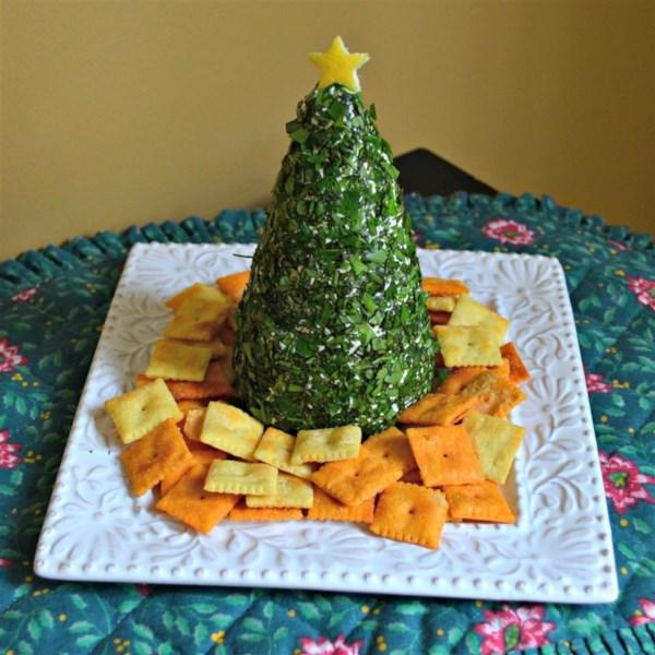 Receita de Árvore de Natal Creme, Havarti e Torta de Natal Parmesão