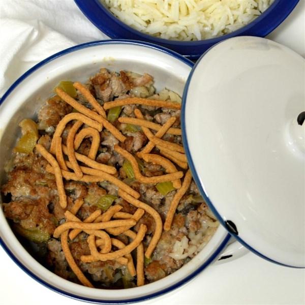 Receita de Caçarola Chinesa de Carne Moída