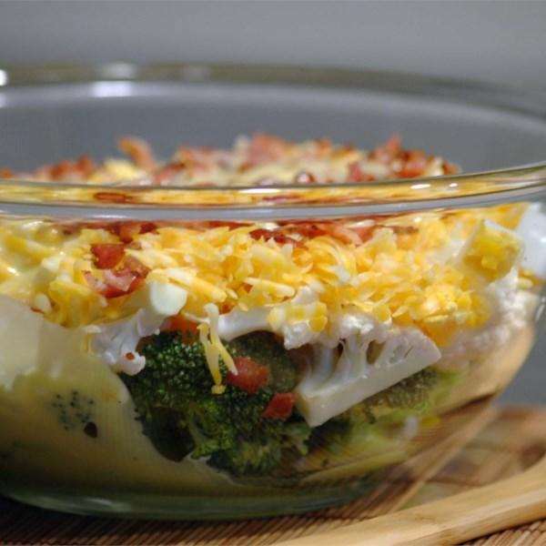 Receita de Salada de Brócolis-Couve-Flor