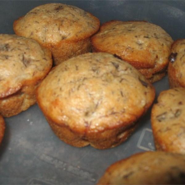Receita de Muffins de Banana Chip II