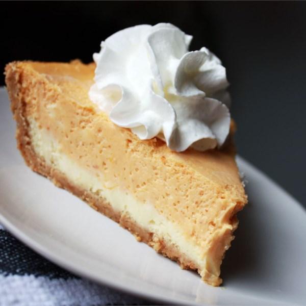 Receita de Cheesecake de Abóbora de Dupla Camada