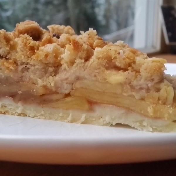 Torta de maçã holandesa com receita streusel de aveia