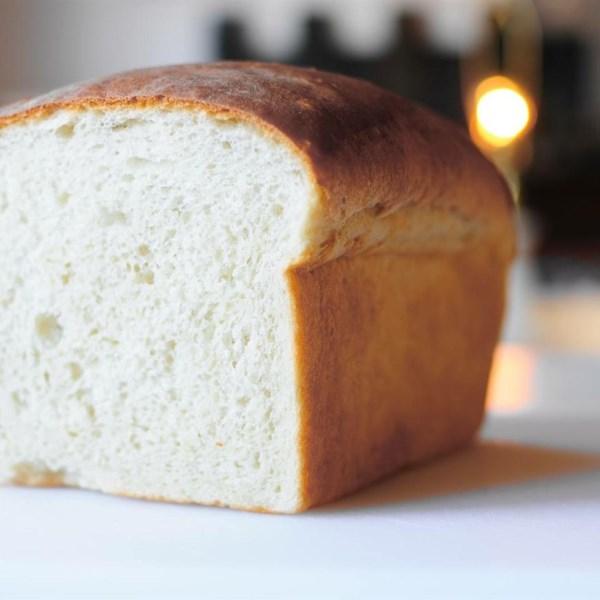 Receita tradicional de pão branco