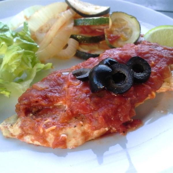 Receita saudável de cozimento de frango mexicano