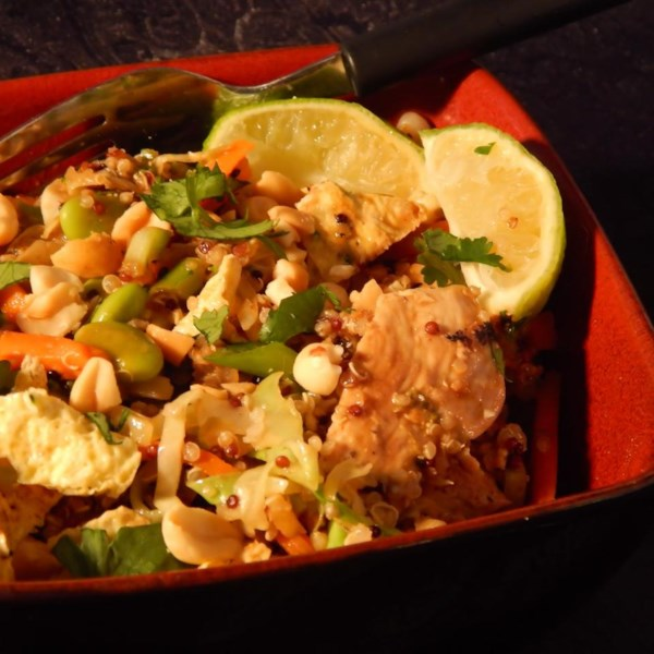 Receita de Taça de Quinoa Pad Thai
