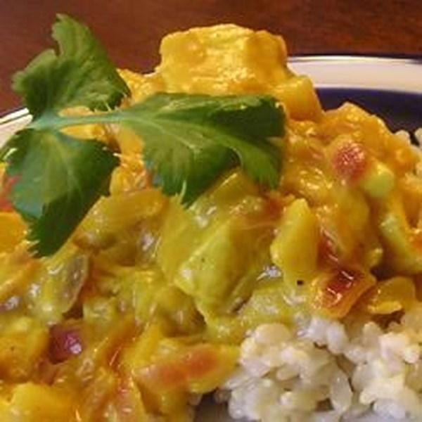 Receita de Frango e Maçã Curry