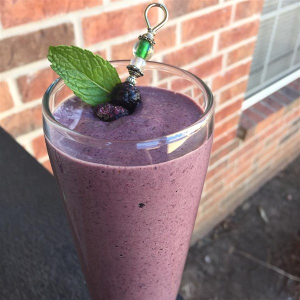 Receita de Smoothie Superfood Berry-Green