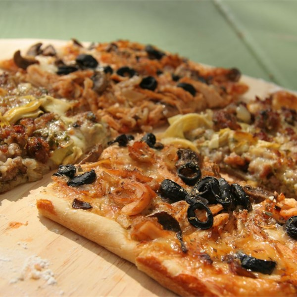 Receita de Praças de Pizza Vegetal