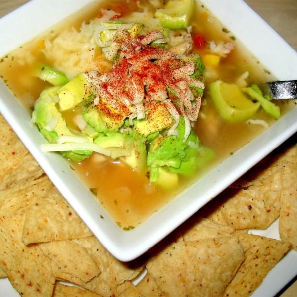 Receita de Sopa de Tortilla zeke's