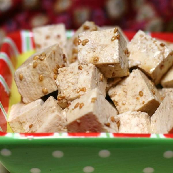Receita fácil de salada de tofu