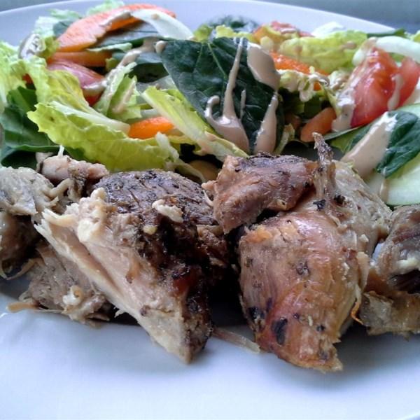 Carne assada com receita de esfregão de ervas